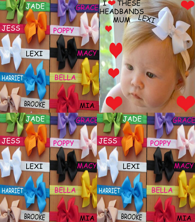 PERSONALISED HANDMADE Headband x1 MESSAGE ME THE NAME