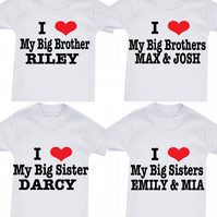 BIG BROTHER  OR SISTER COUSIN ETC ANY FAMILY MEMBER T-SHIRT