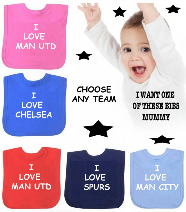 football bib Liverpool Man Utd any team in the world you choose