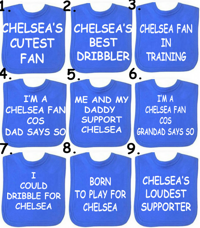football bib Chelsea  Liverpool Man Utd Arsenal any team in the world you choose
