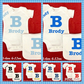 Personalised Big sister little sister cousin Set
