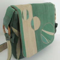 Messenger Bag - Green Circles