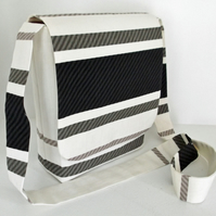 Messenger Bag - Black & White