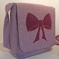 Messenger Bag - Purple Bow