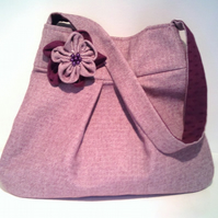 Purple Herringbone Handbag