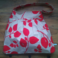 bag with red leaf print