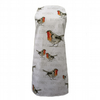 Robin Apron - Christmas Homeware Gift, 100% Cotton, Made in England