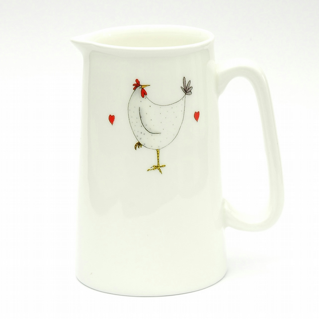 White Hen Large Jug (500ml)