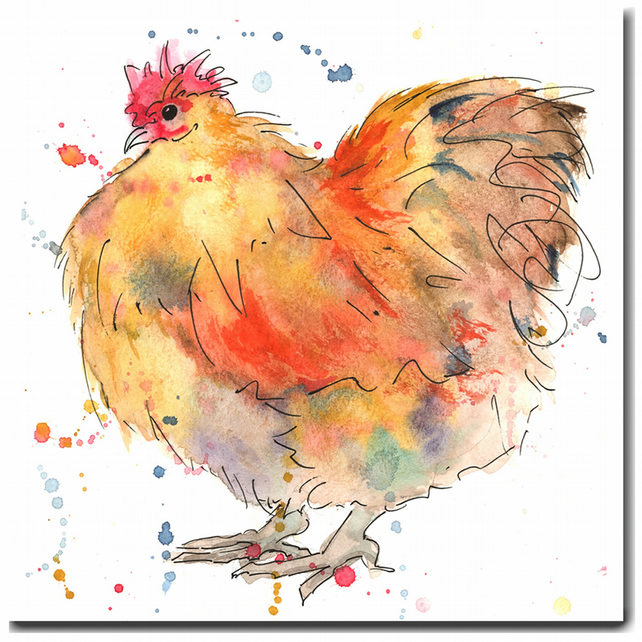 Buff Orpington Chicken Card