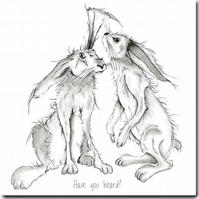 Hare Greeting Card - Have you heard?