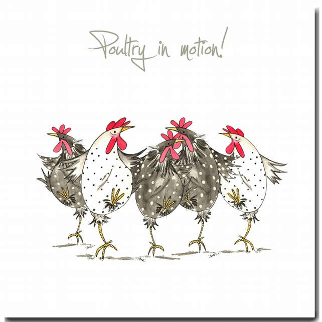 Fun Chicken Card - Poultry in Motion - Blank inside, Birthday, Friend