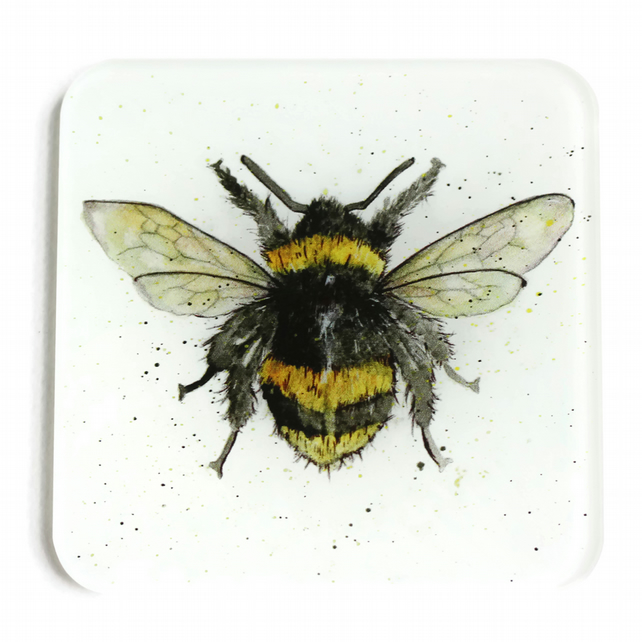 Bumble Bee Glass Coaster