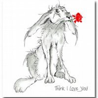 Hare Valentine's Day Card - Animal, Love You