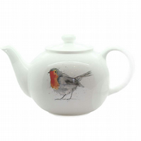 Robin Teapot - Fine Bone China, Made in England