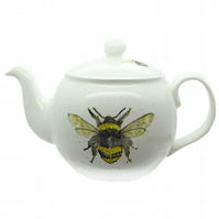 Bee Teapot - Fine Bone China, Made in England