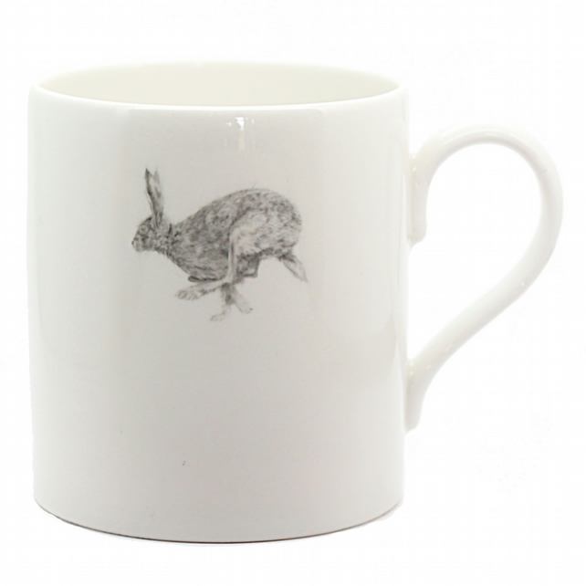 Horace Hare Mug - Small Hare Design - Fine Bone China - Made in England