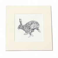 Hare Giclee Print - Gallery Wall Art - Pencil drawing