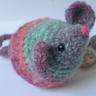 Amigurumi Mouse - multicoloured Japanese Noro Yarn