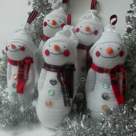 Sock Snowman - Xmas decoration or Stocking Filler