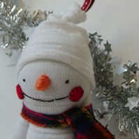 Sock Snowman - Christmas Decoration, Stocking Filler or Secret Santa