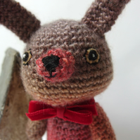 Crochet Amigurumi Bunny Bear - browns and oranges