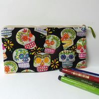 Zip Pouch, Purse, Pencil Case - Alexander Henry Fabric