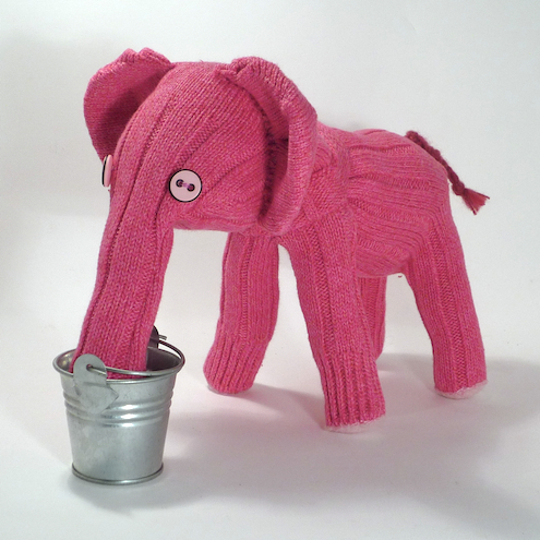 Effie the Pink Sock Elephant