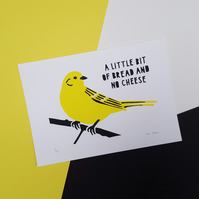 Yellowhammer Screen Print - Hand Printed, Limited Run (18)