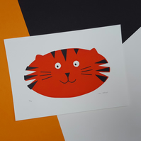 Tiger Screen Print - Hand Printed, Limited Run (18) - Unframed