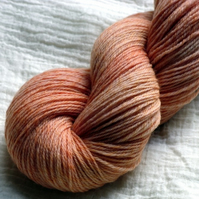 'Apricot Smoothie' - Merino Tweed 4ply Yarn 100g