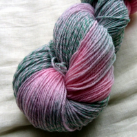 'Flowering Cherry' - Merino Tweed 4ply Yarn 100g