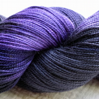 'Viola Noir' - Superwash BFL/Nylon High Twist Sock Yarn 100g