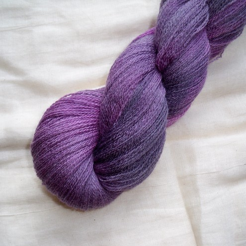 'Twilight' Hand Dyed BFL Lace Yarn 100g