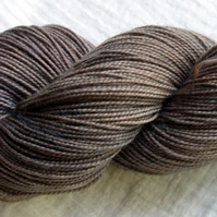 'Chocolate Fudge' - Superwash BFL/Nylon High Twist Sock Yarn 100g