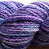 Violetta' - Superwash BFL Aran Hand Dyed Yarn 100g