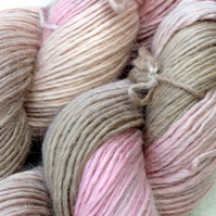 'Antique Rose' - Alpaca, Merino & Silk DK Yarn 100g