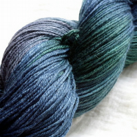 'Black Watch' - BFL & Silk Sock Yarn 100g