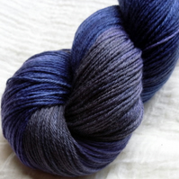 'Midnight' - BFL & Silk Sock Yarn 100g