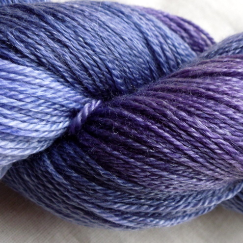 'Purple Haze' - British Falkland Merino/Tencel Sock Yarn 100g