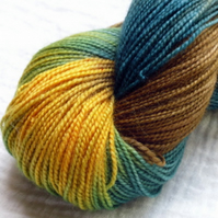 'Sunlit Pine' - Superwash BFL/Nylon High Twist Sock Yarn 100g