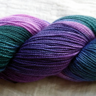 'Enchanted' - Superwash BFL/Nylon High Twist Sock Yarn 100g