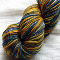 'Starry Night' - Superwash Merino DK Hand Dyed Yarn 100g