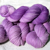 Reserved for Carley - Blackcurrant Smoothie plus almost solid Superwash BFL DK 400g