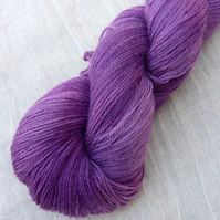 'Grape Sorbet' - Alpaca/Silk/Cashmere Hand Dyed Sock Yarn 100g