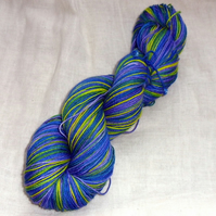 SALE 'Neon Iris #2' - Hand Dyed Superwash BFL/Nylon Sock 100g