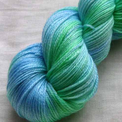 'Spring Valley' - British Falkland Merino/Tencel Sock Yarn 100g