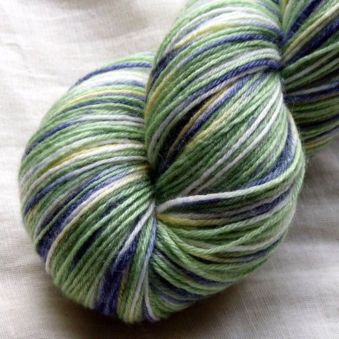 'Irises' - Superwash BFL Bamboo Sock Yarn 100g