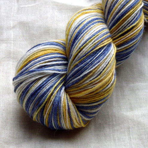 'Crocuses' - Superwash BFL Bamboo Sock Yarn 100g