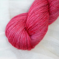 SALE 'Redcurrant Crush' - Alpaca/Silk/Cashmere Hand Dyed Sock Yarn 100g