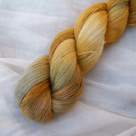 'September Song' - Hand Dyed Baby Alpaca Lace 100g